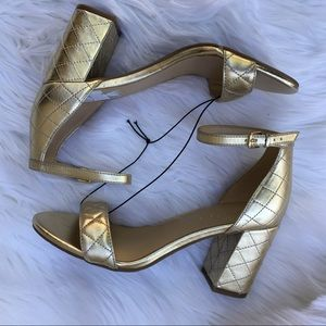 New Marc Fisher Gold Sandals